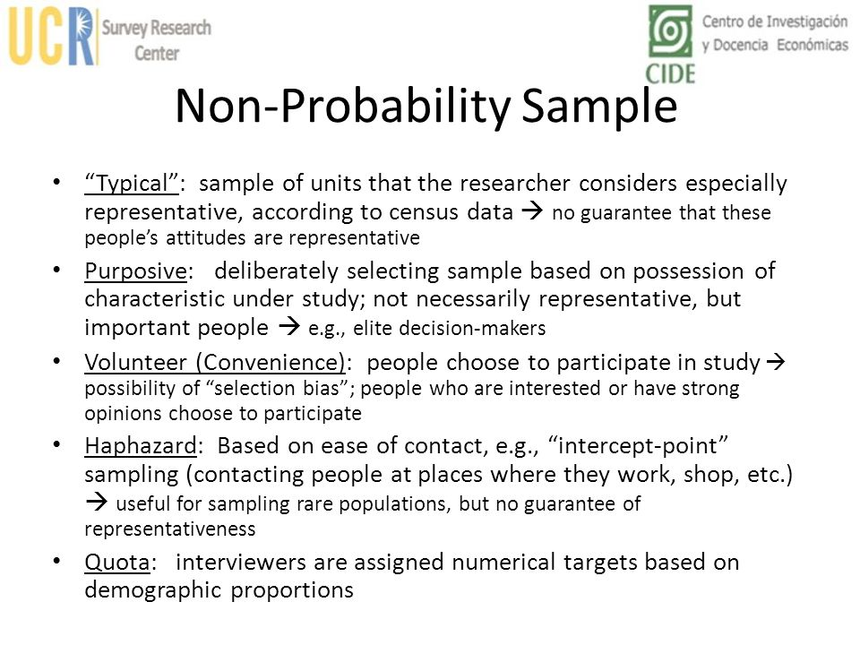 Non-Probability Sample