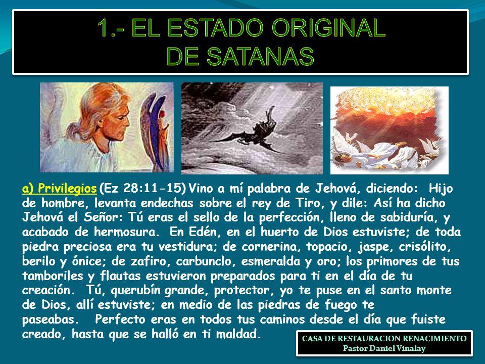 1.- EL ESTADO ORIGINAL DE SATANAS