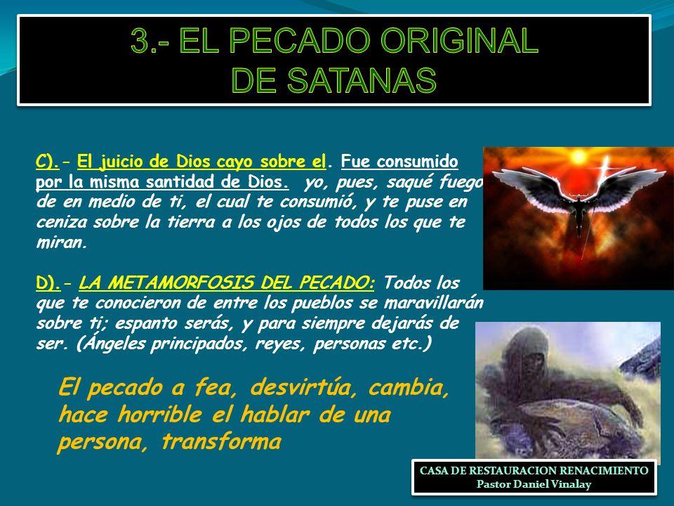 3.- EL PECADO ORIGINAL DE SATANAS