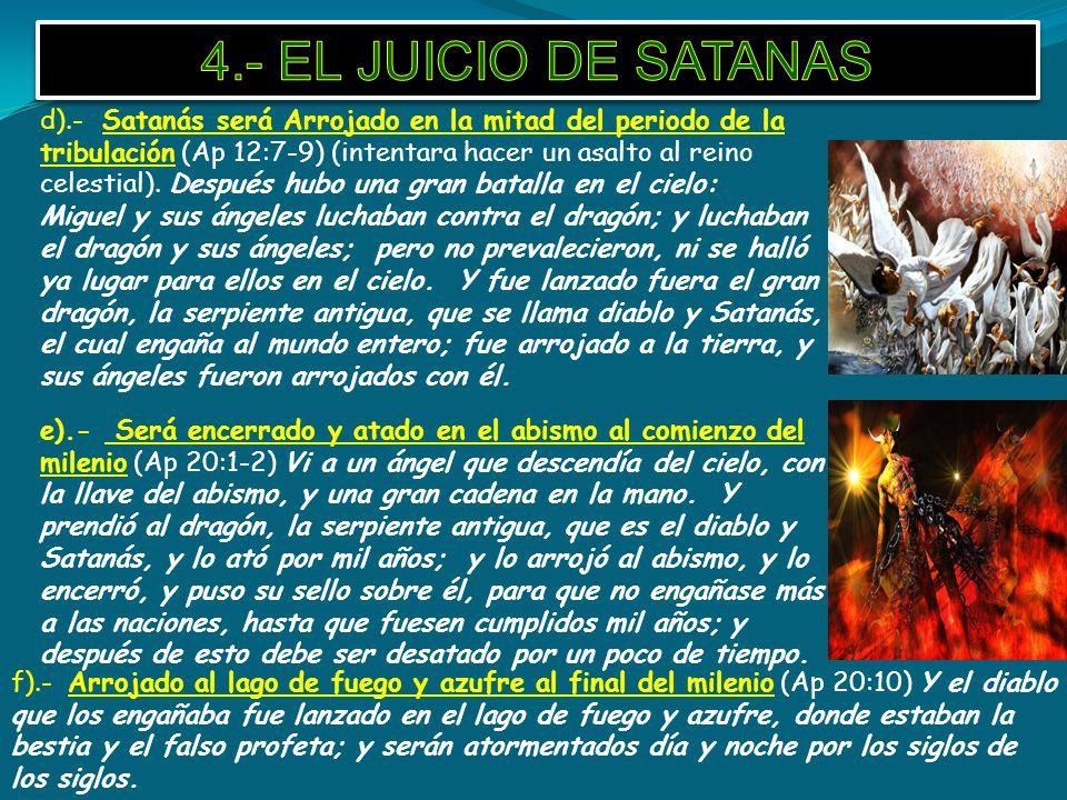 4.- EL JUICIO DE SATANAS