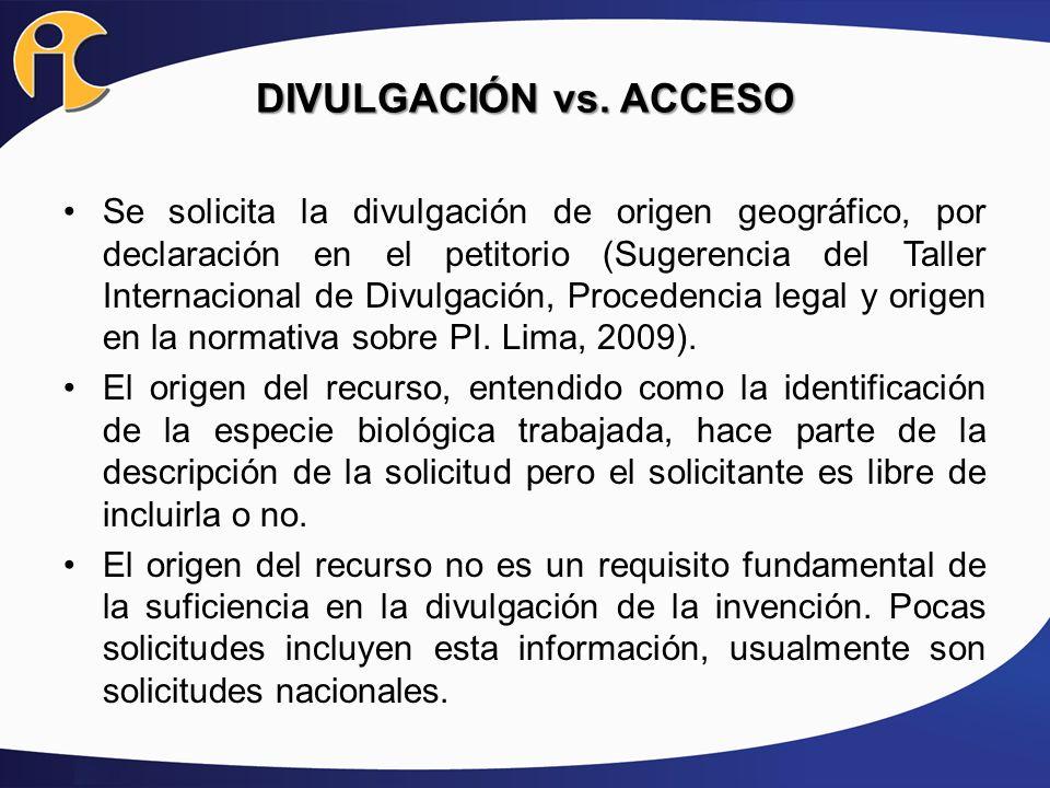 DIVULGACIÓN vs. ACCESO