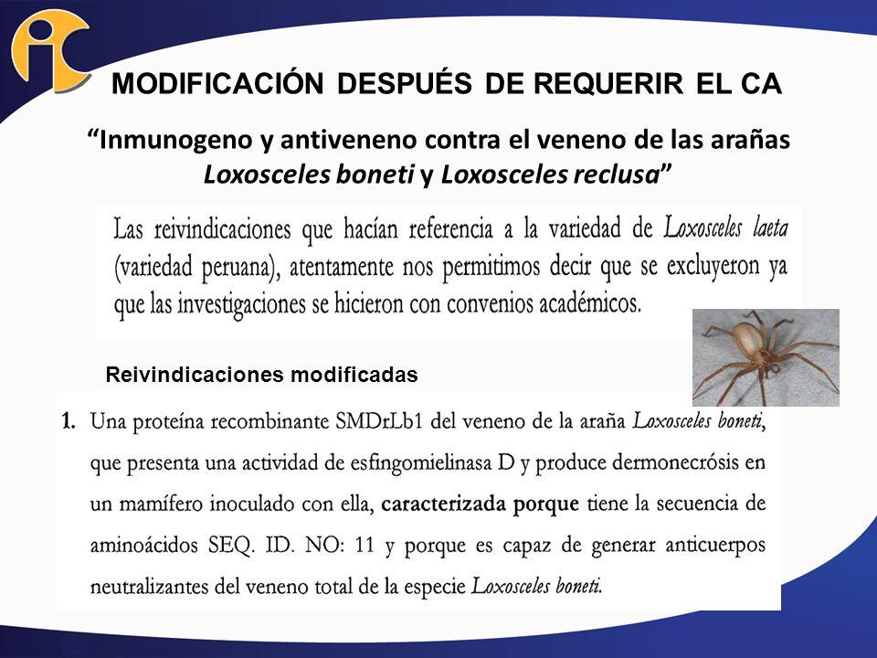 MODIFICACIÓN DESPUÉS DE REQUERIR EL CA