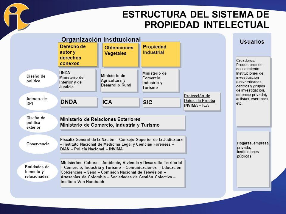 ESTRUCTURA DEL SISTEMA DE PROPIEDAD INTELECTUAL
