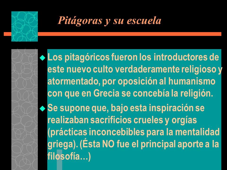 Pitágoras y su escuela