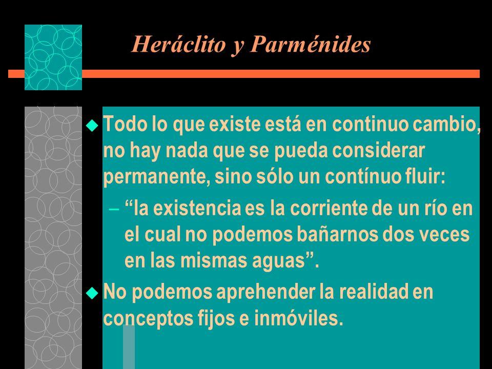 Heráclito y Parménides
