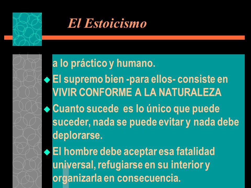El Estoicismo a lo práctico y humano.