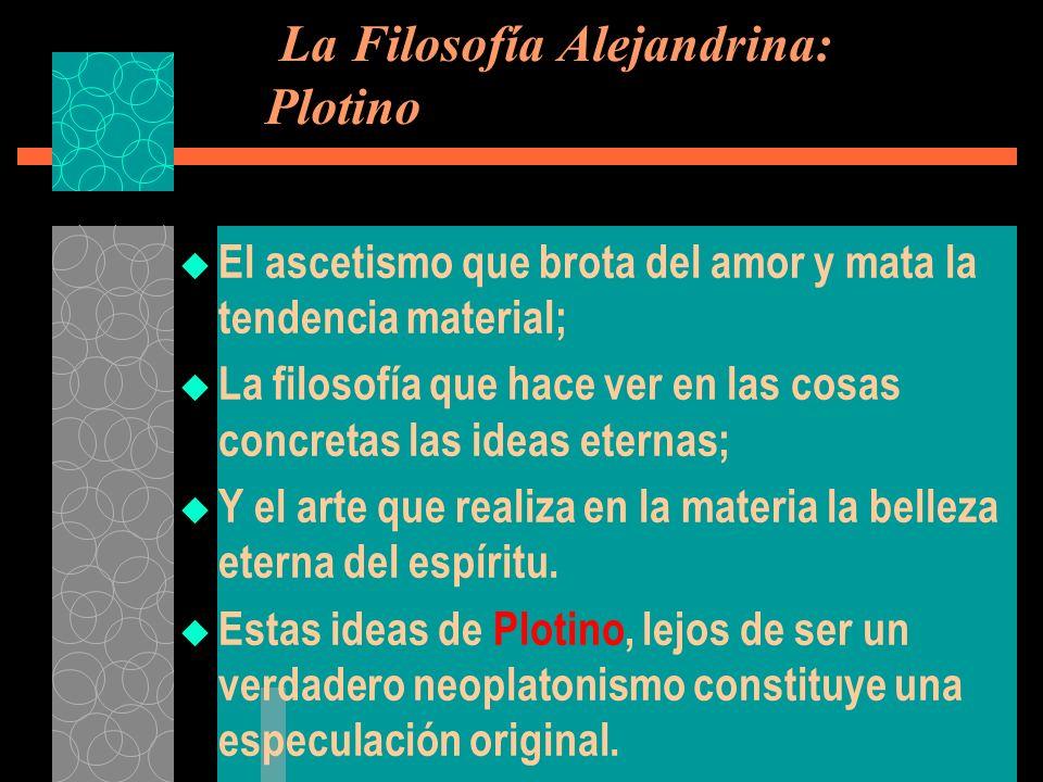 La Filosofía Alejandrina: Plotino