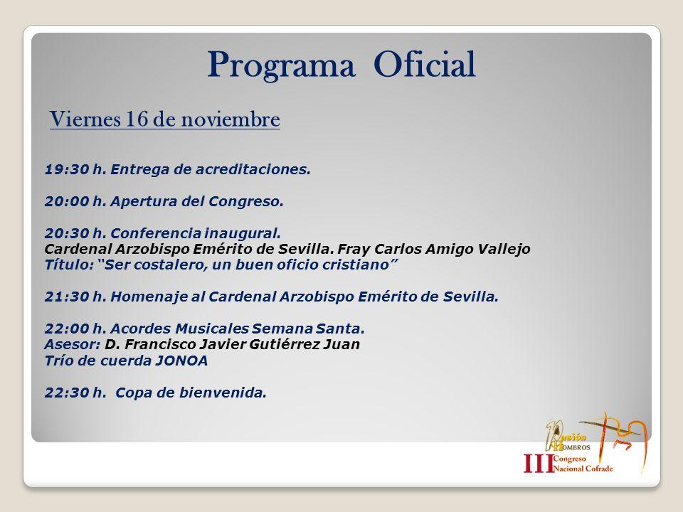 Programa Oficial Viernes 16 de noviembre