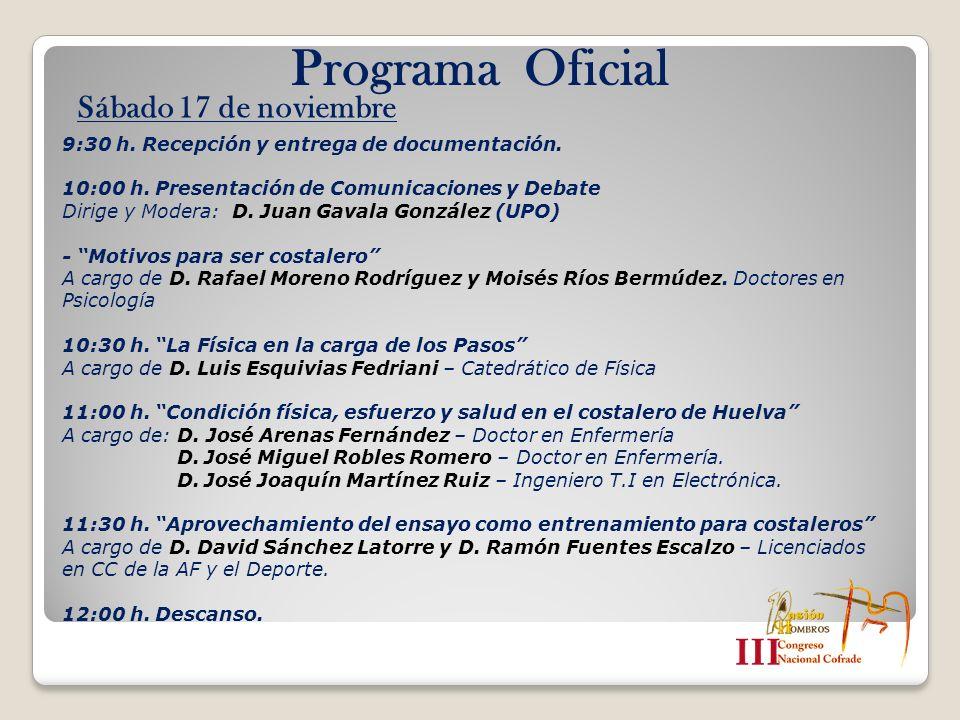 Programa Oficial Sábado 17 de noviembre