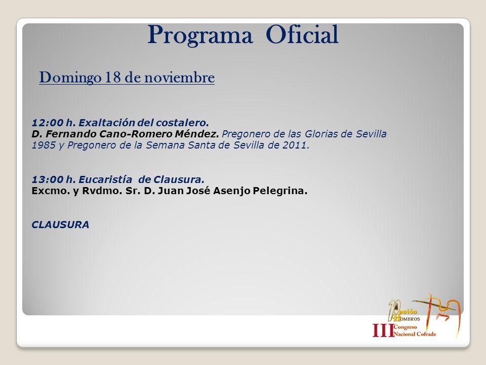 Programa Oficial Domingo 18 de noviembre