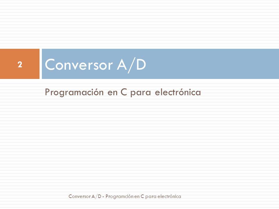 Conversor A/D Programación en C para electrónica