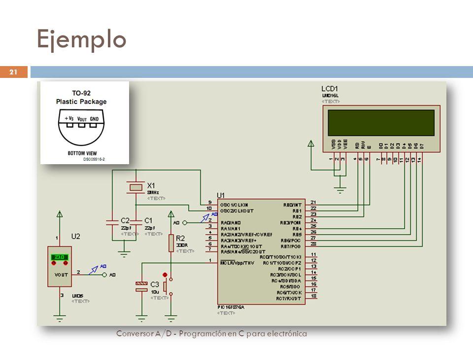 Ejemplo Conversor A/D - Programción en C para electrónica