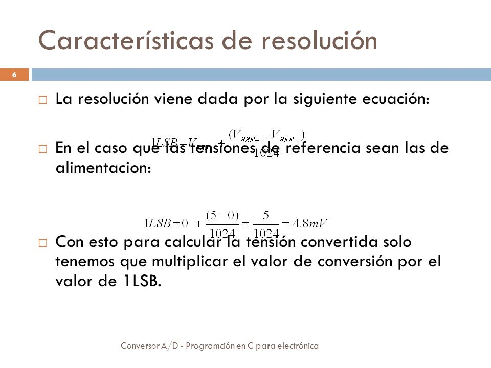 Características de resolución