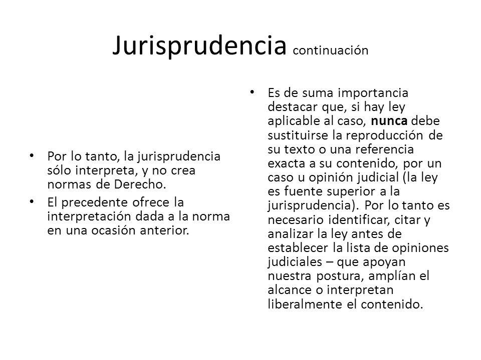 Jurisprudencia continuación