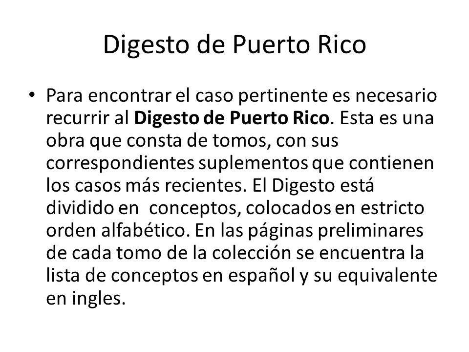 Digesto de Puerto Rico
