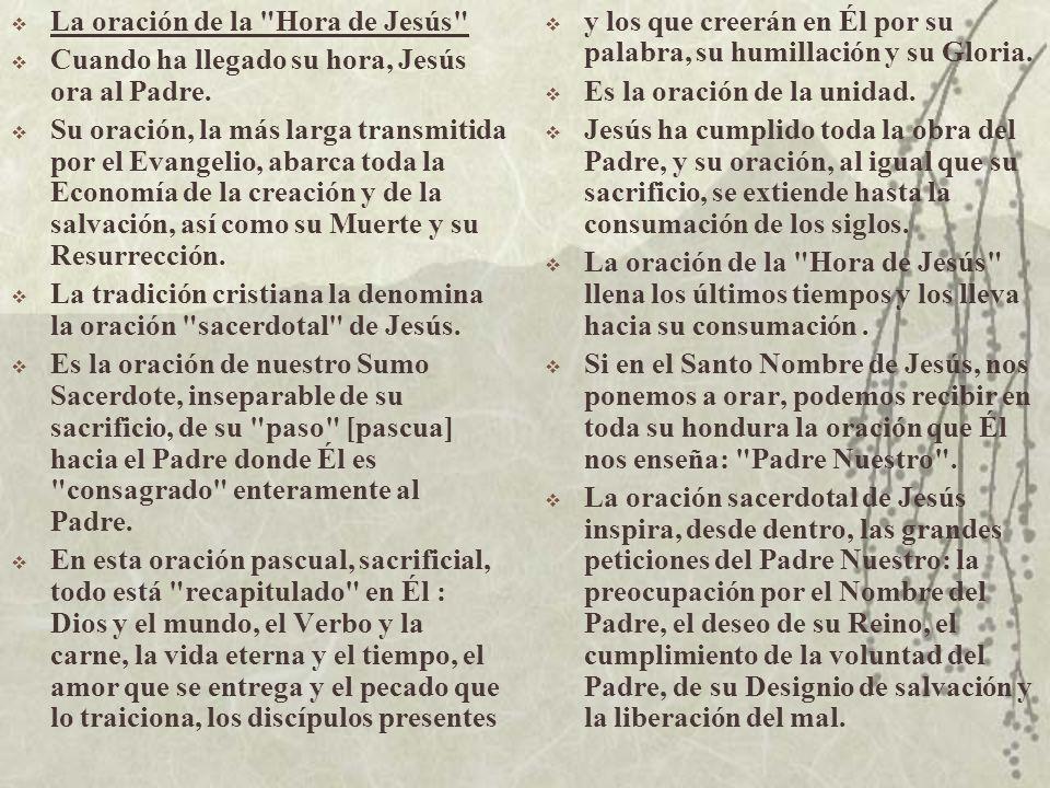 La oración de la Hora de Jesús