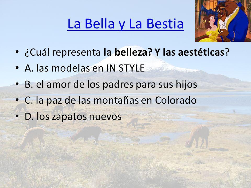 La Bella y La Bestia ¿Cuál representa la belleza Y las aestéticas