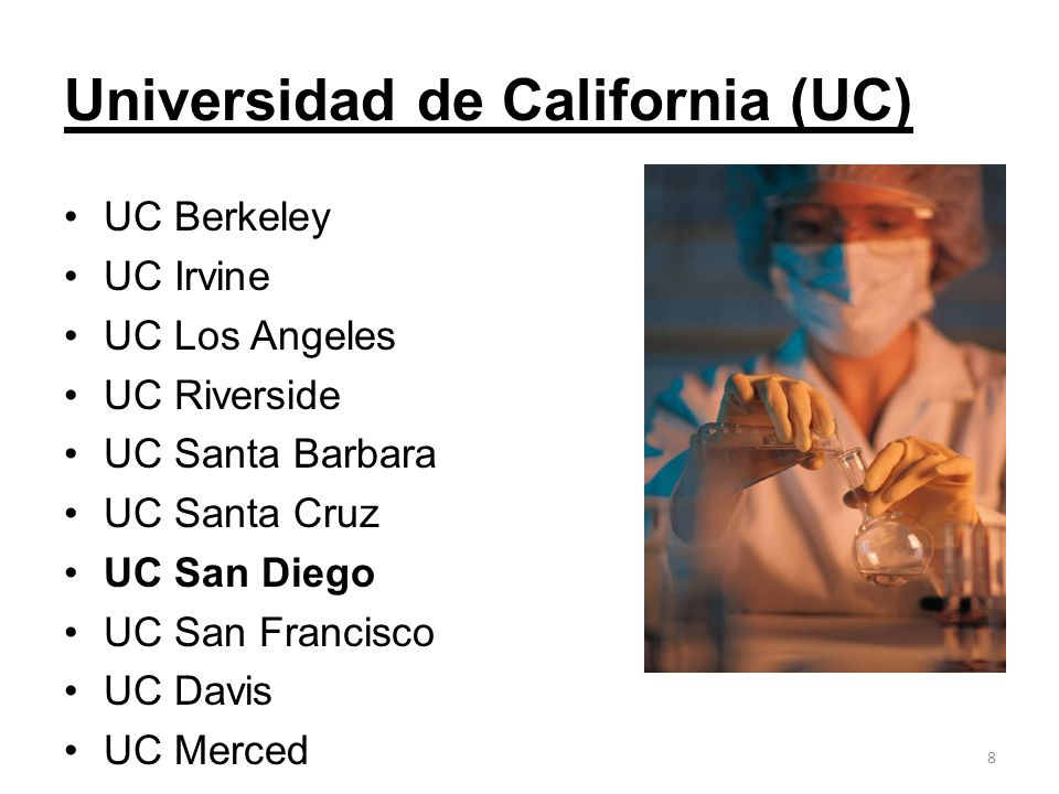 Universidad de California (UC)