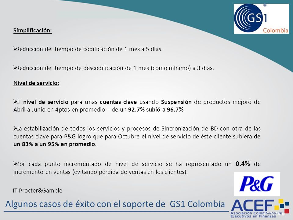 Algunos casos de éxito con el soporte de GS1 Colombia