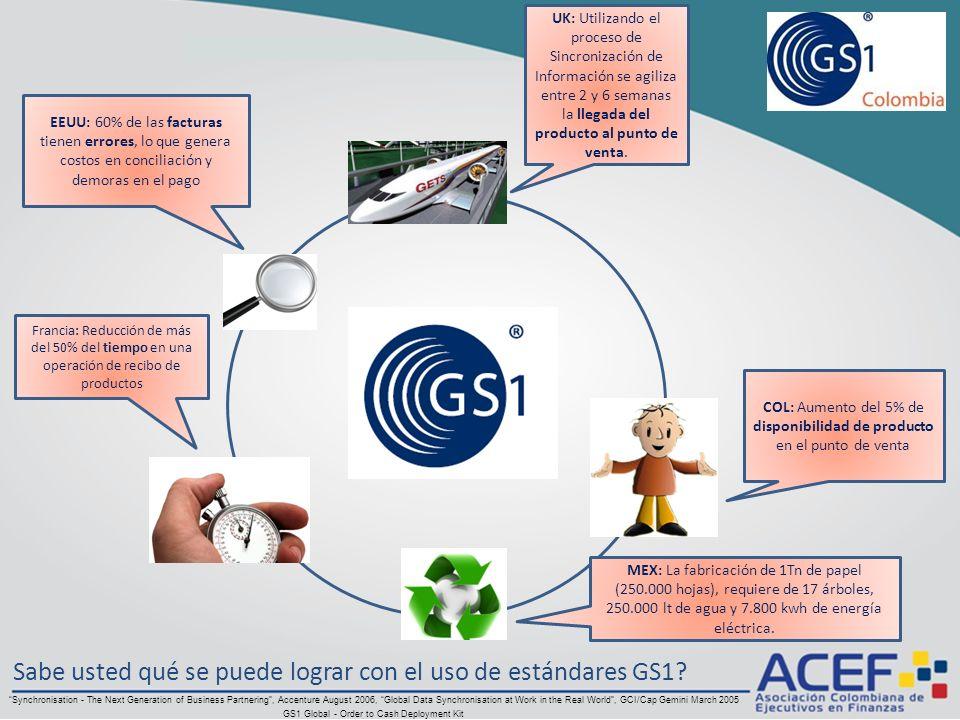 Sabe usted qué se puede lograr con el uso de estándares GS1