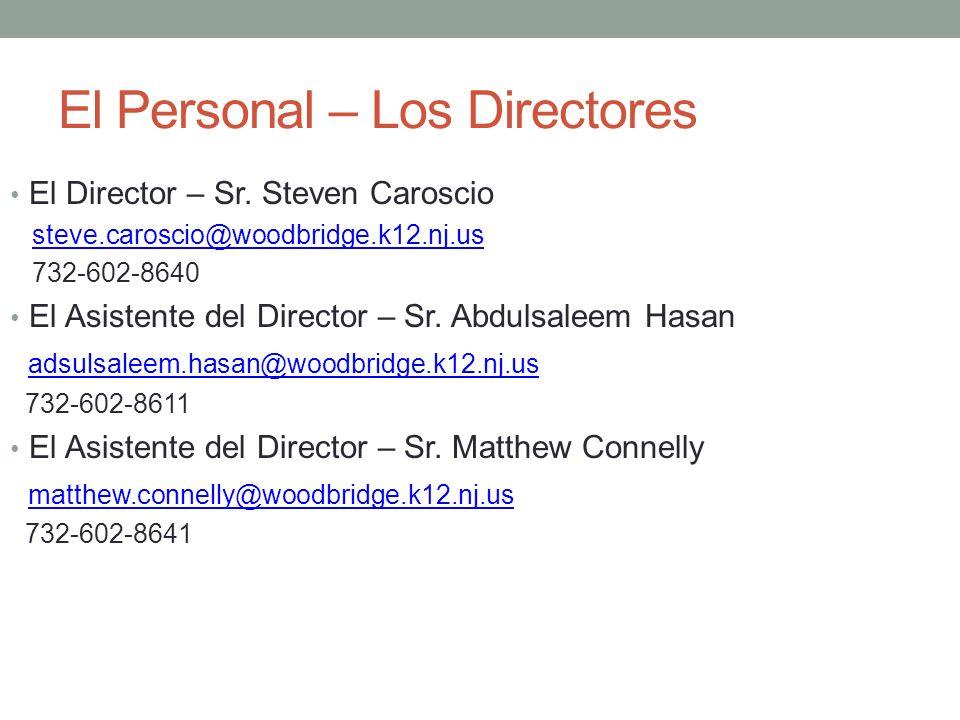 El Personal – Los Directores