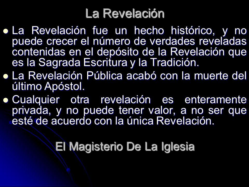 El Magisterio De La Iglesia