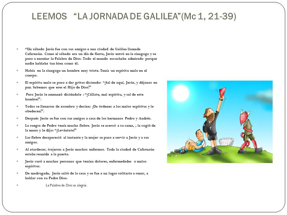 LEEMOS LA JORNADA DE GALILEA (Mc 1, 21-39)