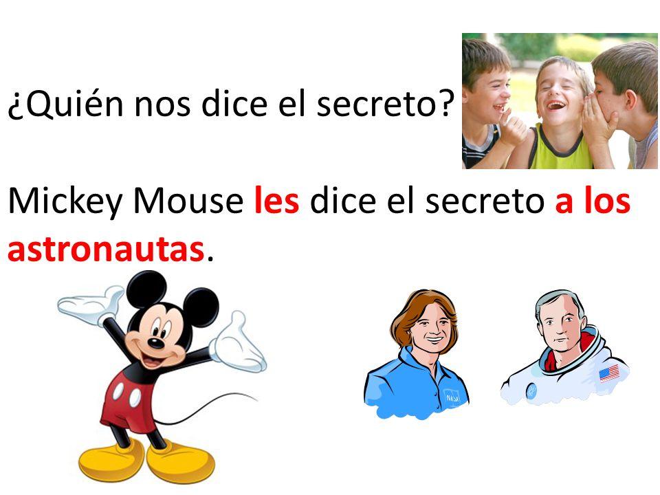 ¿Quién nos dice el secreto