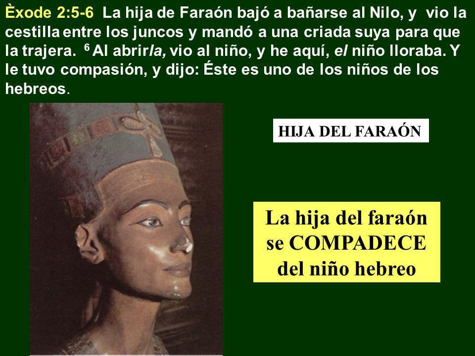 La hija del faraón se COMPADECE del niño hebreo
