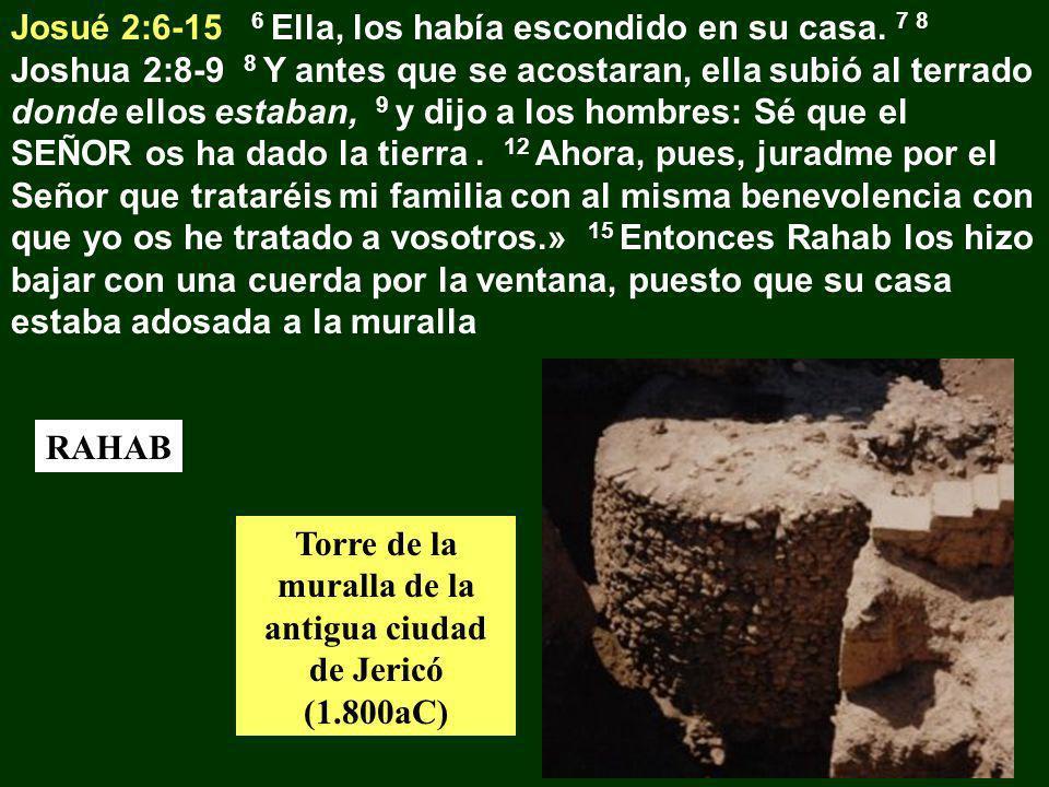 Torre de la muralla de la antigua ciudad de Jericó (1.800aC)