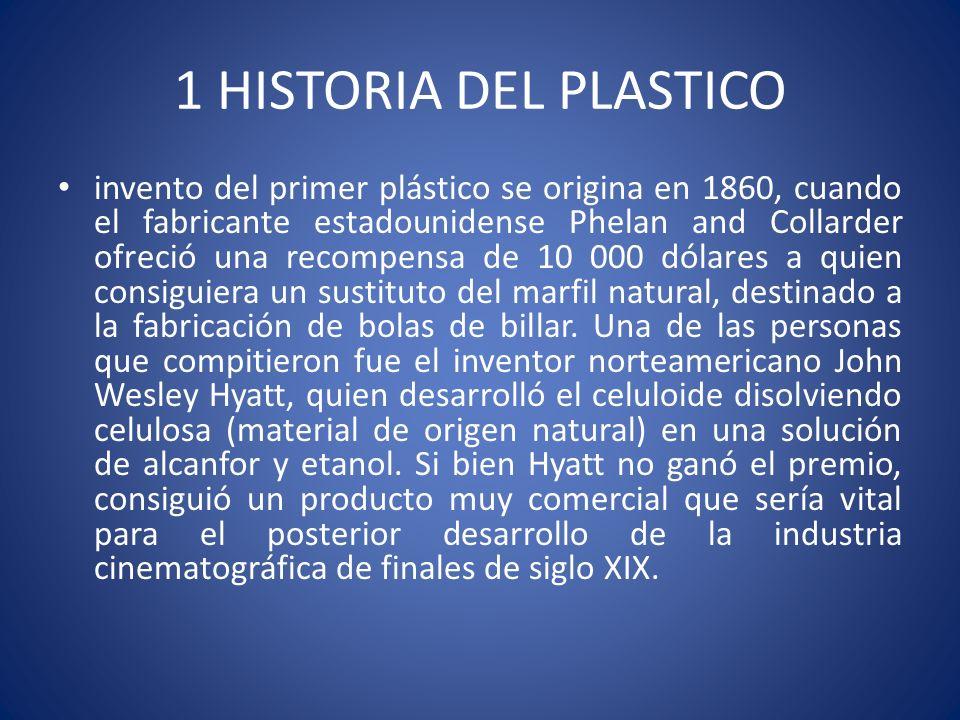 1 HISTORIA DEL PLASTICO