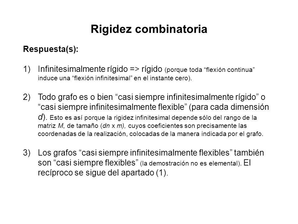 Rigidez combinatoria Respuesta(s):