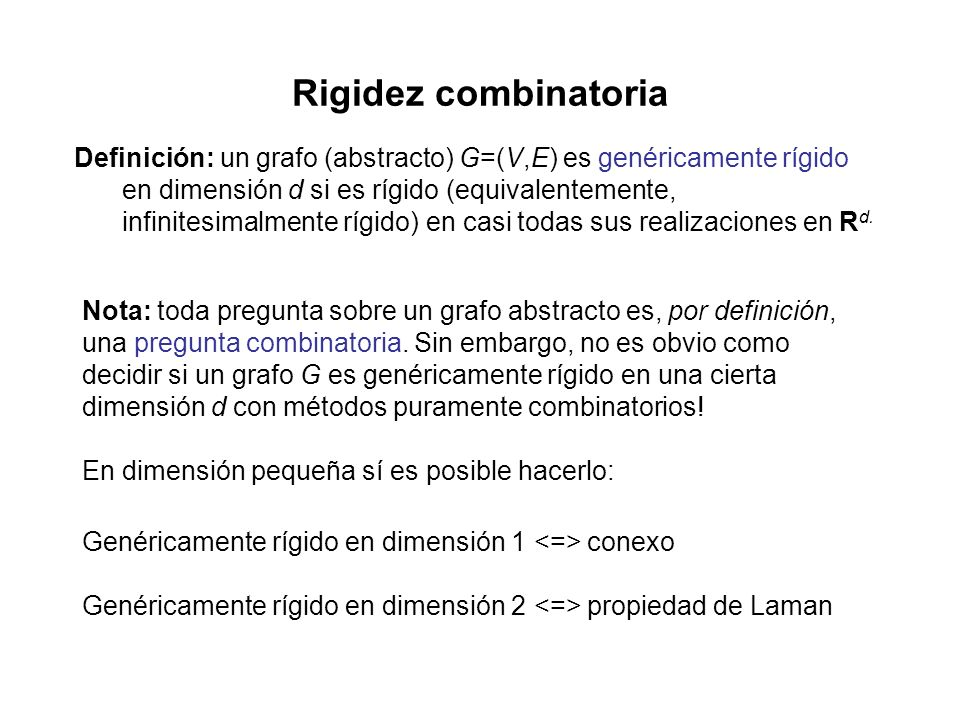 Rigidez combinatoria