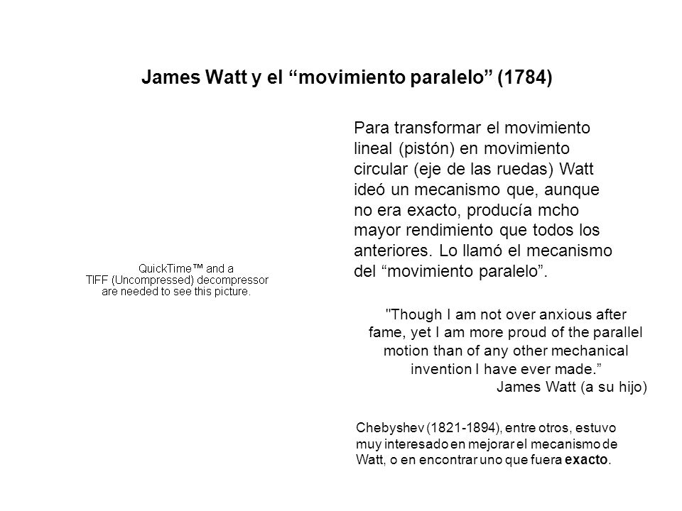 James Watt y el movimiento paralelo (1784)