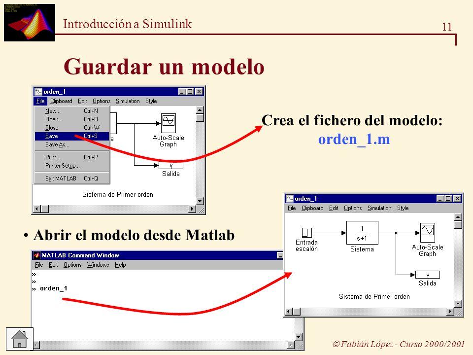 Crea el fichero del modelo: