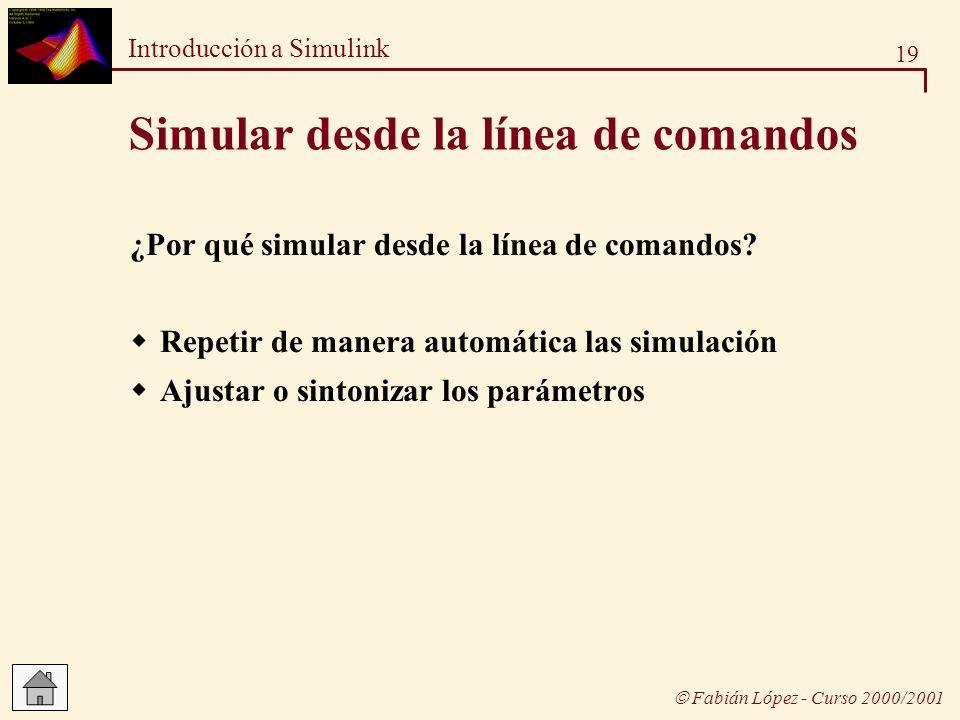 Simular desde la línea de comandos