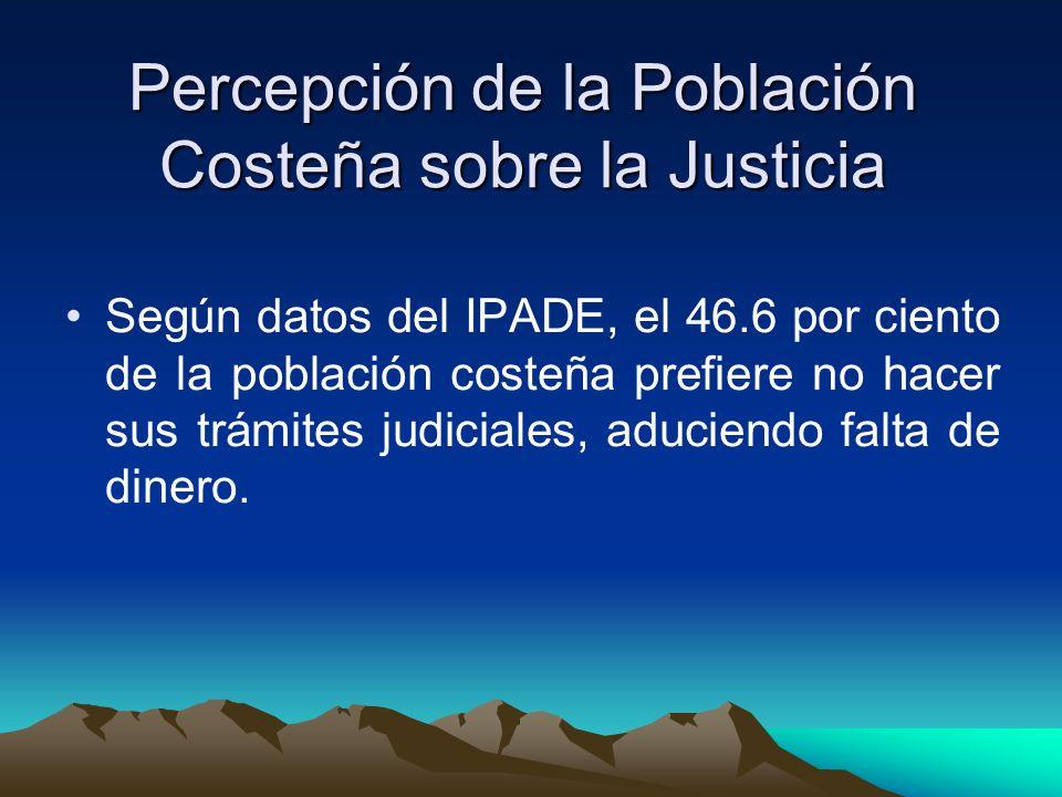 Percepción de la Población Costeña sobre la Justicia