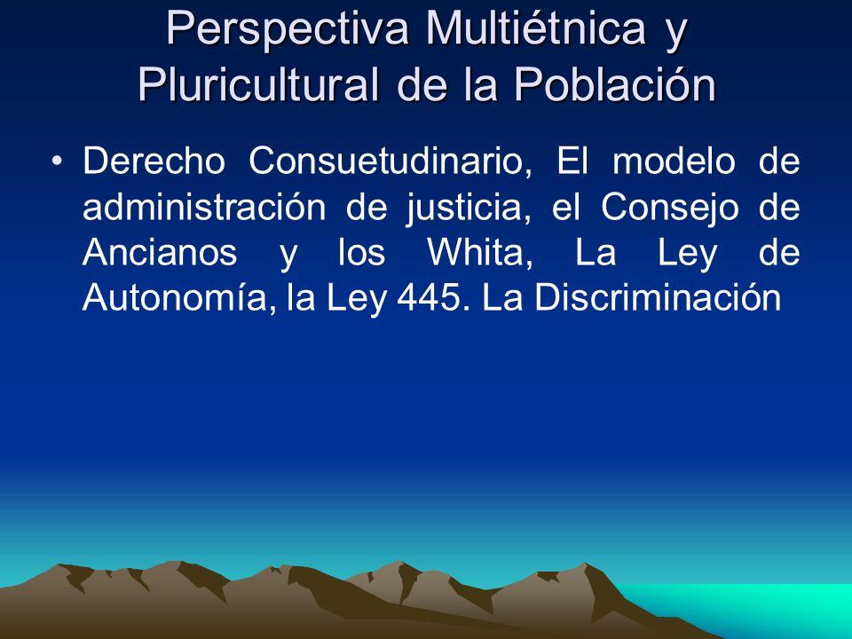 Perspectiva Multiétnica y Pluricultural de la Población