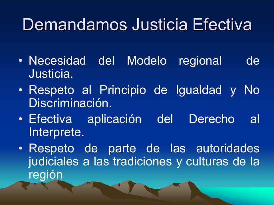 Demandamos Justicia Efectiva