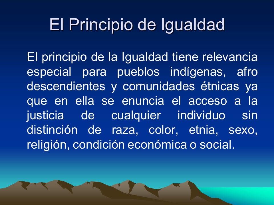 El Principio de Igualdad