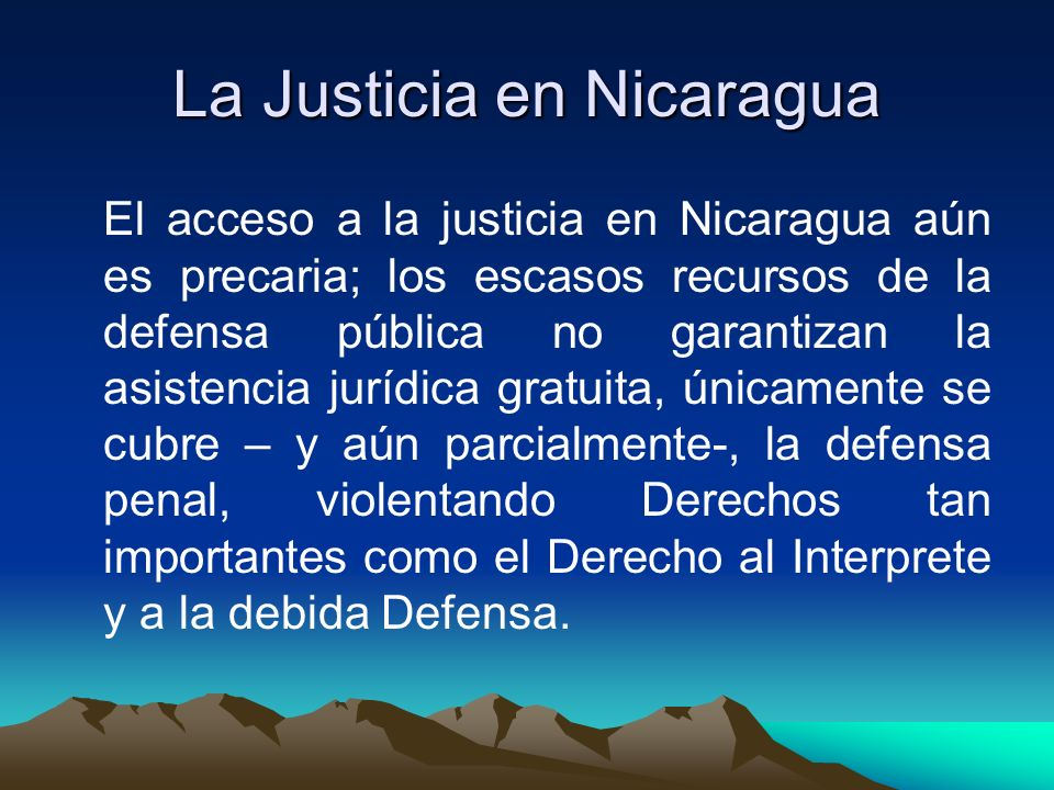 La Justicia en Nicaragua