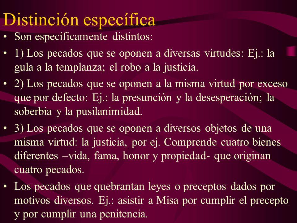 Distinción específica