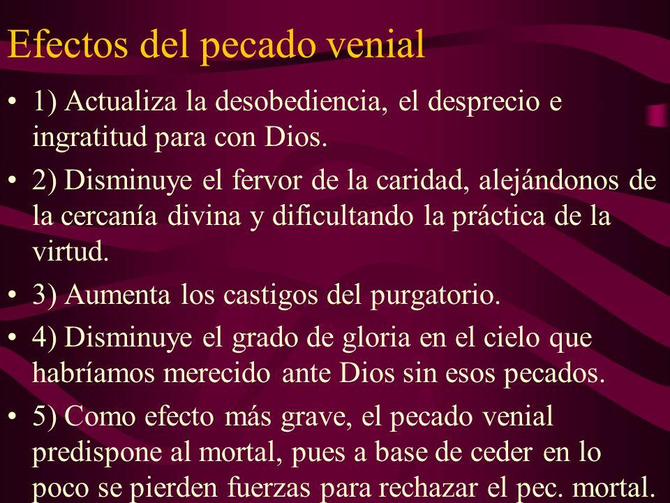 Efectos del pecado venial