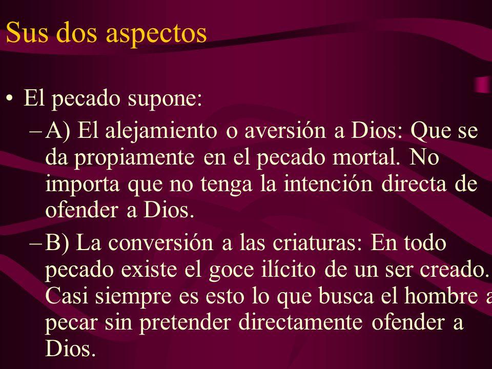 Sus dos aspectos El pecado supone: