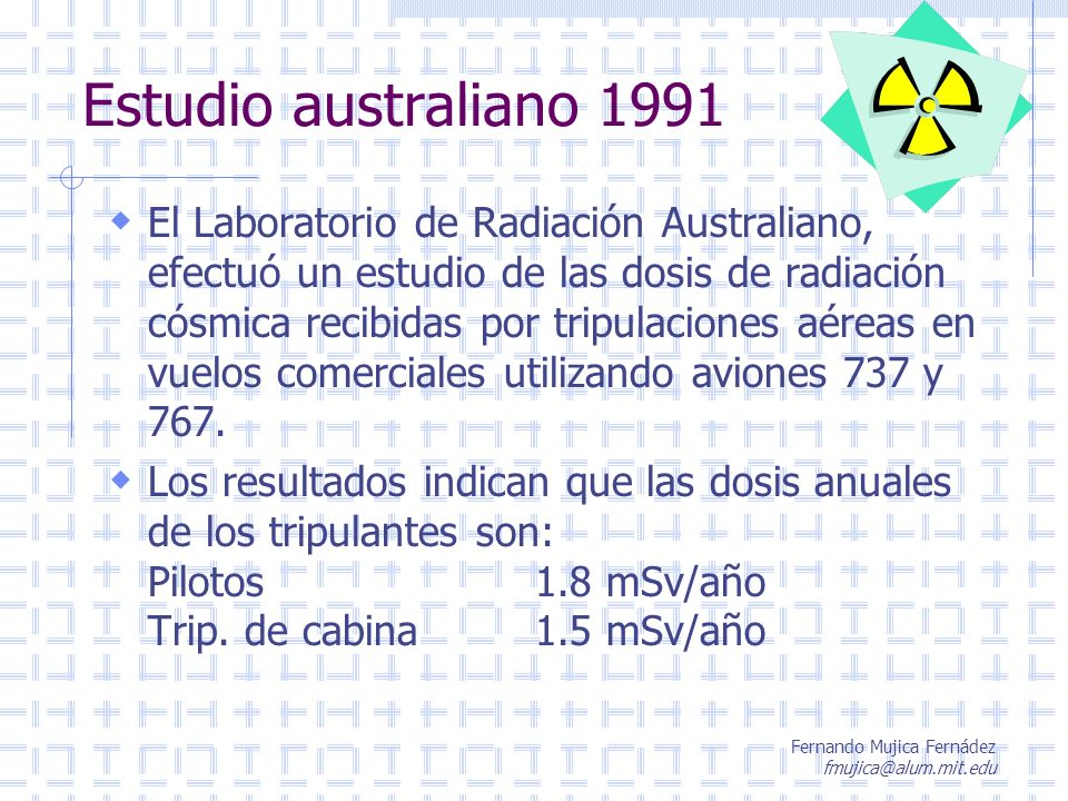 Estudio australiano 1991
