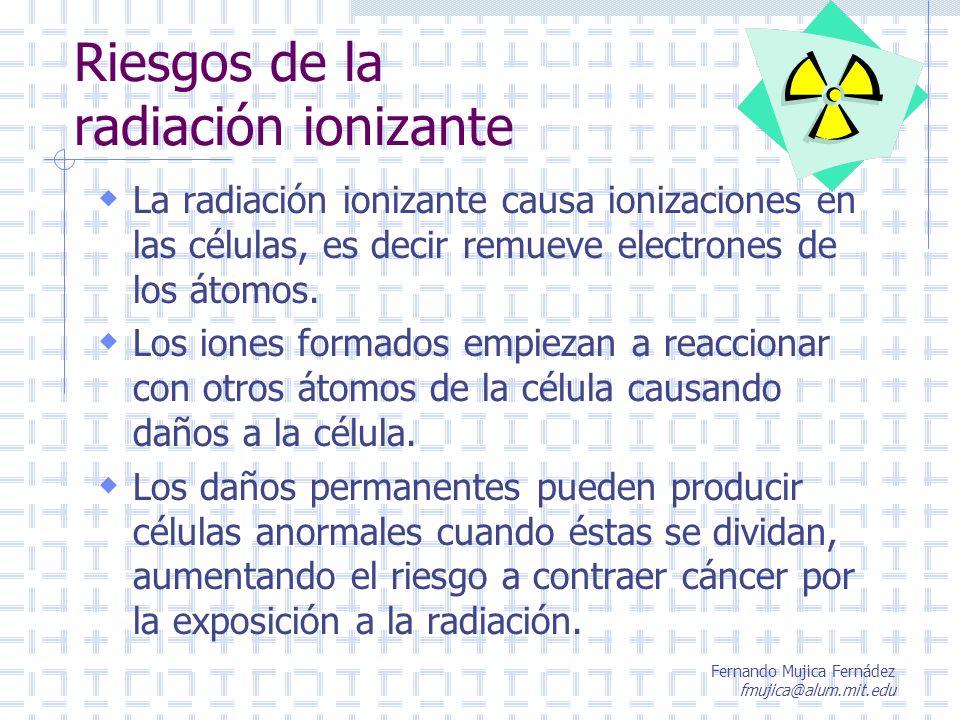 Riesgos de la radiación ionizante