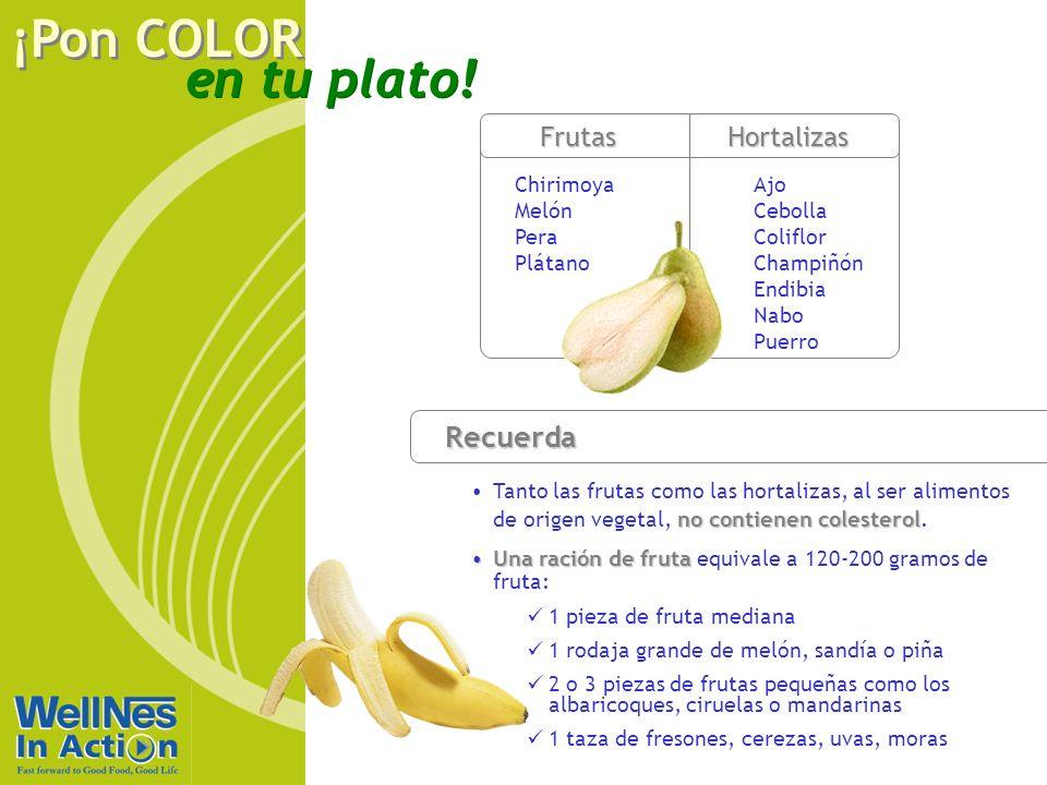 Recuerda Frutas Hortalizas Rojo Chirimoya Melón Pera Plátano Ajo