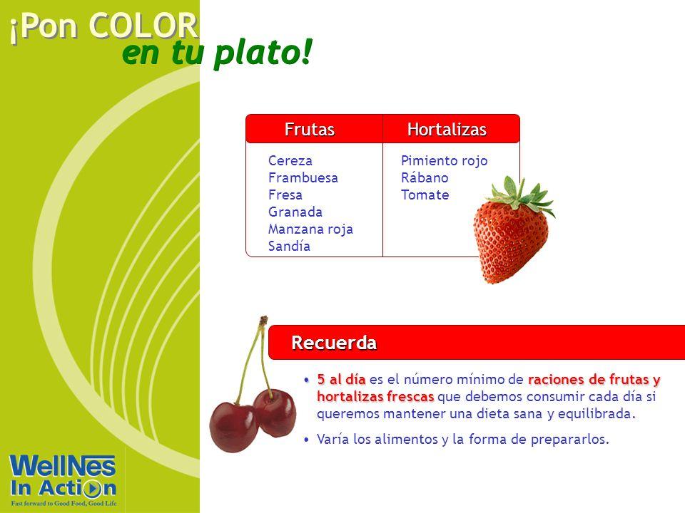 Recuerda Frutas Hortalizas Rojo Cereza Frambuesa Fresa Granada