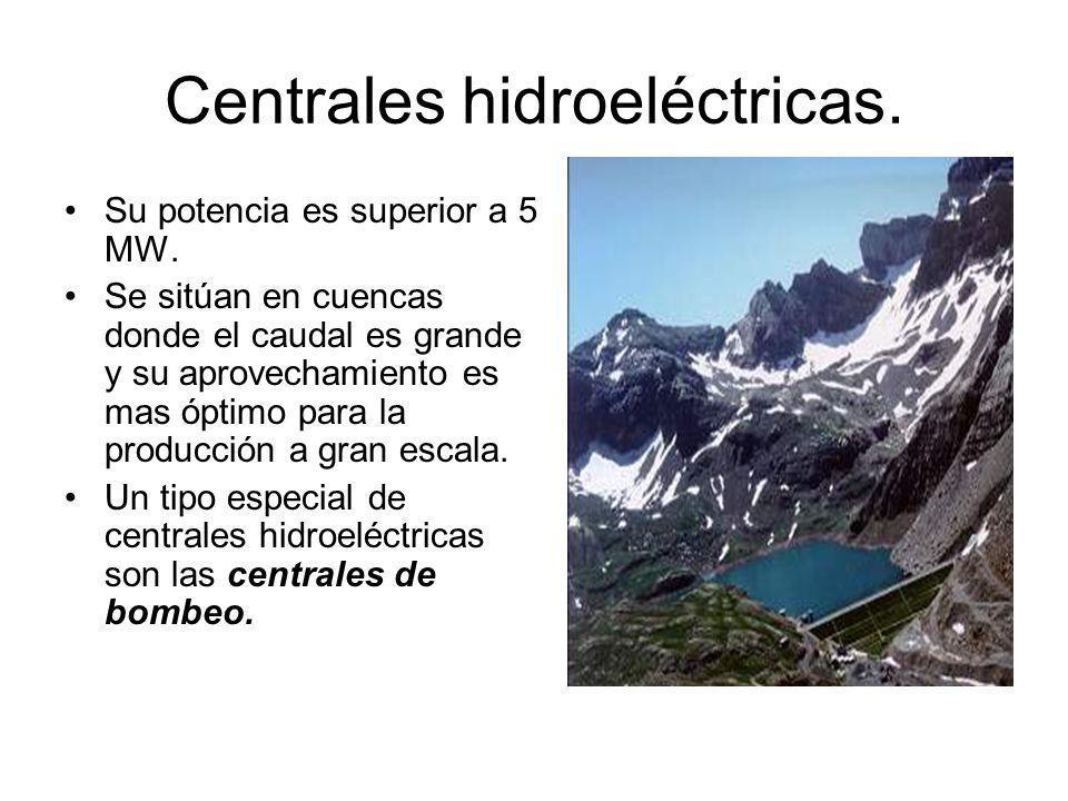Centrales hidroeléctricas.