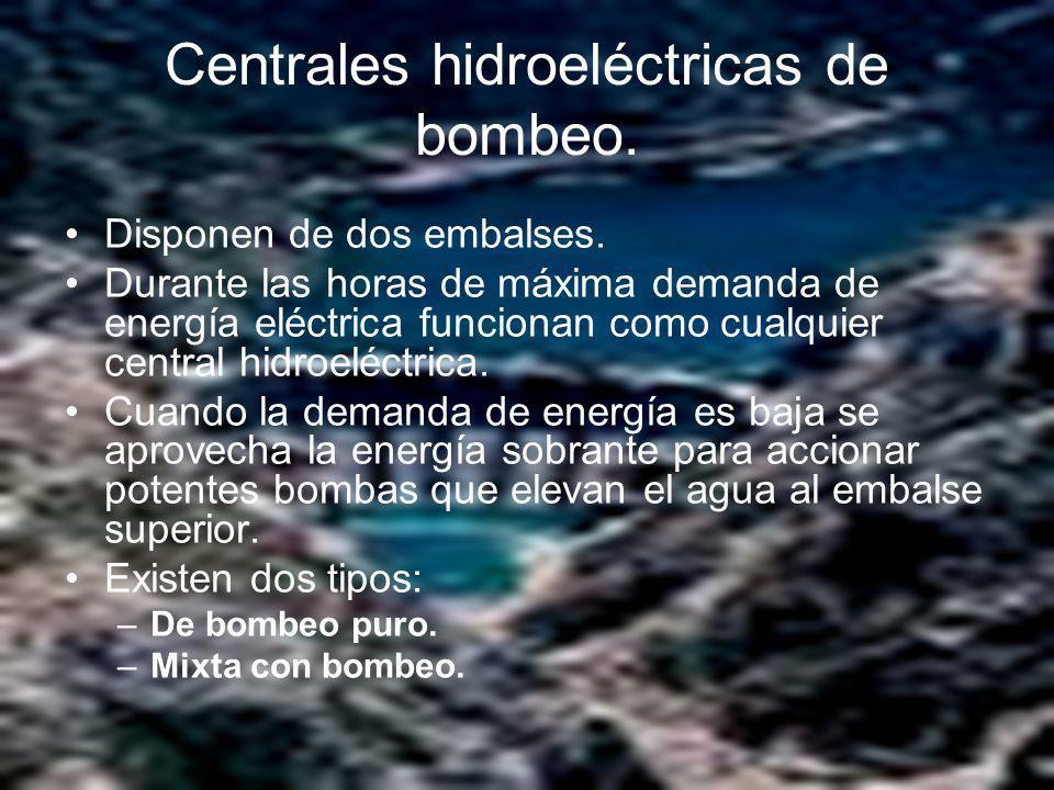 Centrales hidroeléctricas de bombeo.